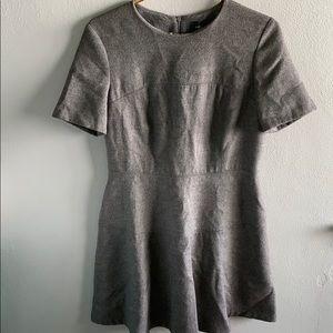 Zara Wool Blend Dark Gray Dress